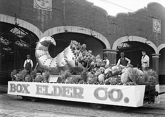 Box Elder County, Utah - Box Elder County float, 1912