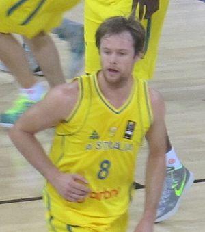 Brad Newley - Newley playing with Australia in 2014.