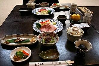 Kusatsu Onsen - Image: Breakfast by machu at a hotel in Kusatsu Onsen