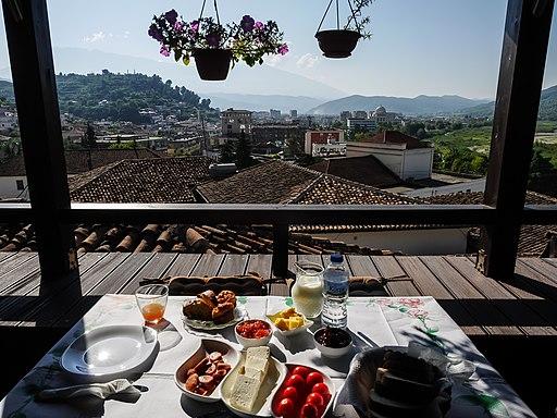 Breakfast in Berat, Albania - Albanian cuisine