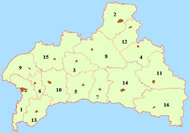 Районы Брестской области — Википедия 88205fd0e42
