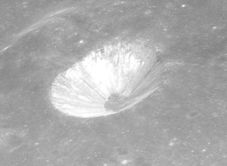 Brewster (crater) - Oblique view from Apollo 15