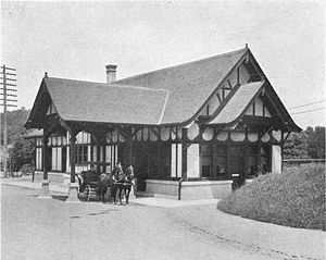 Briarcliff Lodge - Southwest view of Law's train station in 1907