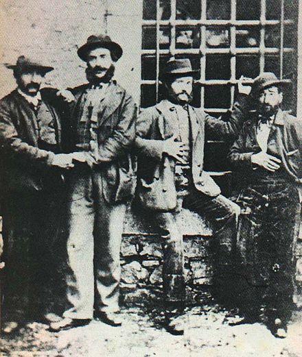 Alcuni briganti lucani: Caruso, Cafo, Lamacchia e Tinna
