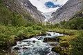 Briksdalselva and Briksdalsbreen, Sogn og Fjordane, Norway, 2013 June.jpg
