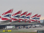 British Airways Boeing 747-400 tails at Heathrow.jpg