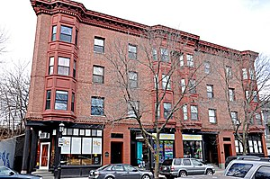 Building at 30-34 Station Street - Image: Brookline MA Building At 30 34Station St