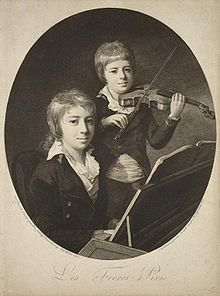Violinist Friedrich Wilhelm Pixis, with his brother, pianist Johann Peter Pixis. c. 1800. (Source: Wikimedia)