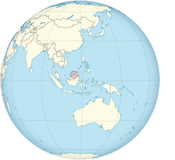 Location of  Brunei  (red)in Southeast Asia