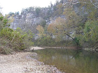 Buffalo National River - Pruitt Landing, looking down river