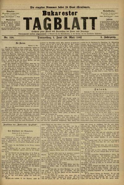 File:Bukarester Tagblatt 1882-06-01, nr. 118.pdf