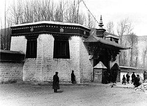 Norbulingka - Front gate to the Dalai Lama's summer residence, 1938