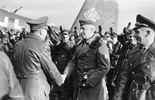 Erich von Manstein shakig hands with Hitler