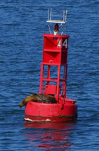 Sea mark - Image: Buoy seal