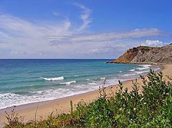 Burgau, Algarve - a view of the Nature Park of Southwest Alentejo and Cape St. Vicente Coast.