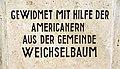 Burgenland, Weichselbaum, Kriegerdenkmal, Widmung (311005).jpg