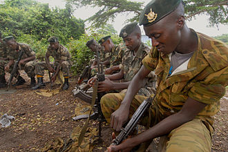 Burundian Civil War - Burundian government soldiers in 2006, shortly after the conflict's end.