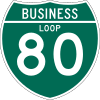 Business Loop Interstate 80 shield marker