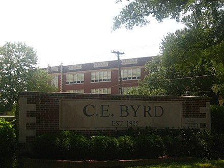 C. E. Byrd High School Byrd High School from Kings Highway IMG 1382.JPG