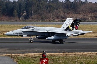 Ala 12 - C.15 Hornet with special tail art commemorating Ala 12 history