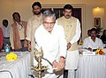 C.P. Joshi lighting the lamp at the inauguration of the National Conference of State Ministers In-Charge of National Social Assistance Programme, in New Delhi on October 29, 2010.jpg