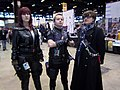 C2E2 (Day 2) 2014, Black Widow, Hawkeye, and another cosplayer.jpg