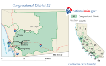 Californias Nd Congressional District Wikipedia - California us house district map