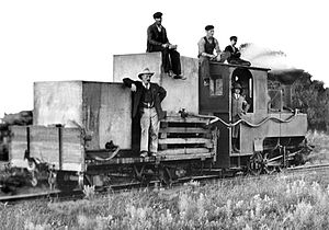 CGR NG 0-6-0T - No. NG21 with a makeshift water tender