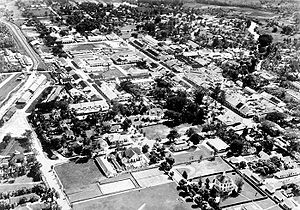 Pematangsiantar - Aerial view of Siantar in 1938