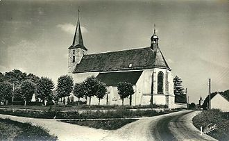 Batilly-en-Gâtinais - An old view of the church in Batilly-en-Gâtinais