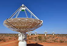 CSIRO ScienceImage 2161 Close up of a radio astronomy telescope with several more in the background.jpg