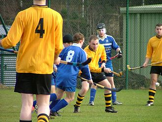 Shinty - A shinty game in progress