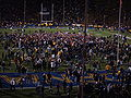 Cal fans swarm Memorial Stadium field after Arizona at Cal 2009-11-14.JPG