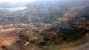 Caldwell, Idaho - Aerial view of Caldwell