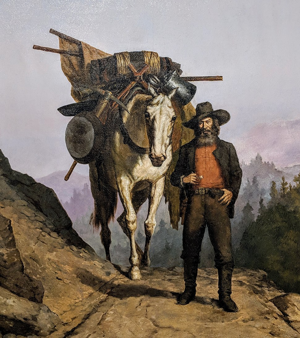 California Miner with Pack Horse detail