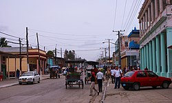 Central road of Yaguajay