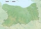 Calvados department relief location map.jpg