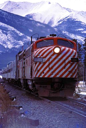 Canadian Pacific passenger train heading east ...