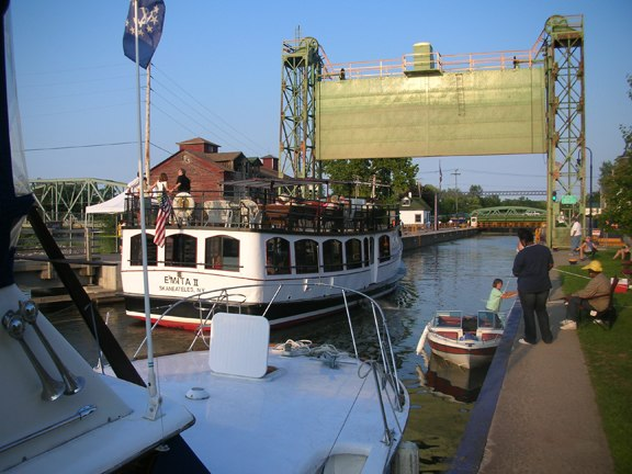 Canal tour boat