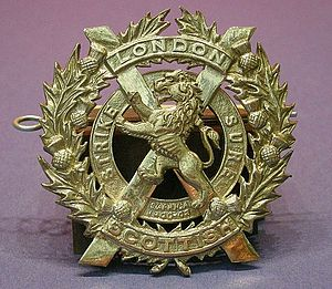 London Scottish (regiment) - Cap Badge of the London Scottish