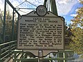 Capon Lake Whipple Truss Bridge Historical Marker Capon Lake WV 2014 10 05 02.JPG