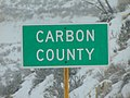 Carbon County, Utah sign on US-6 Price Canyont, Dec 16.jpg