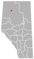 Carcajou, Alberta Location.png