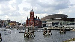 Cardiff Bay with the Pierhead Building in the middle.jpg