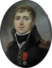 Carel Hendrik Ver Huell (1764-1845), Vice-admiraal van de Bataafse vloot en Minister van Marine van de Bataafse Republiek, getooid met het officierskruis van het Legioen van Eer, hem verleend in 1804