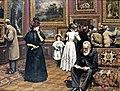 Carl Johann Spielter - Sensation at the art gallery.jpg