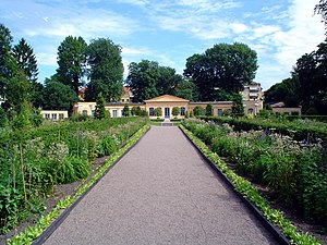 Botany - The Linnaean Garden of Linnaeus' residence in Uppsala, Sweden, was planted according to his Systema sexuale.