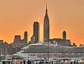 Carnival Victory sailing up the Hudson River - Weehawken - September 2008.jpg