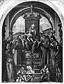 Carpaccio - Madonna con Bambino tra Sant'Ambrogio, San Pietro, San Francesco d'Assisi, Sant'Antonio da Padova, Santa Chiara e San Giorgio, Pala di San Francesco, 1518.jpg