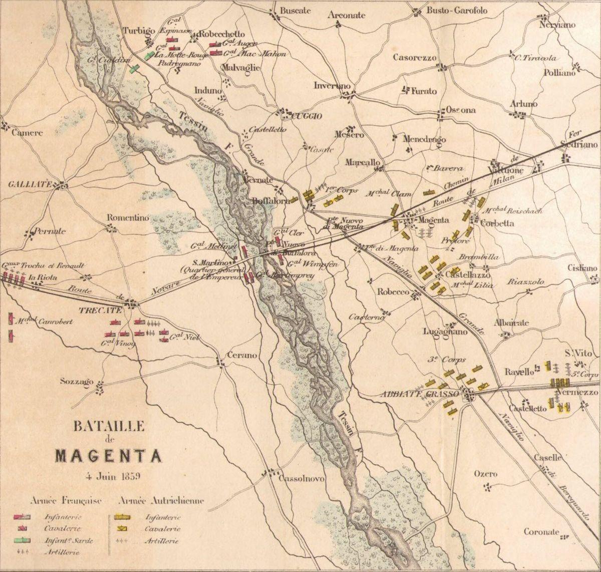 Battaglia di magenta wikipedia for Mappa della costruzione di casa